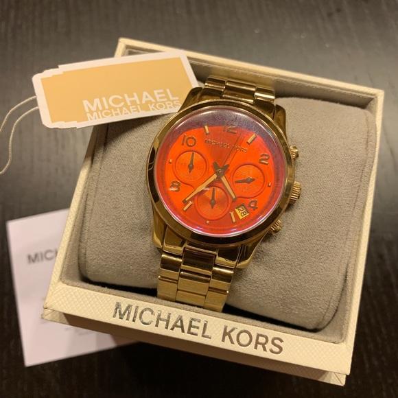 Michael Kors Orange Dial Watch